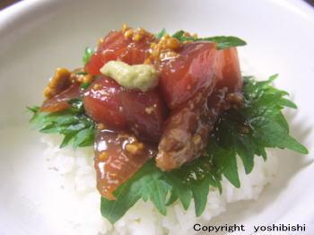 マグロの醤油麹漬け丼